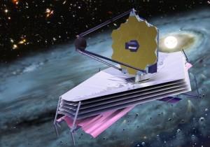 James Webb Space Telescope. Imagen:  concepto artístico, cortesía Nasa.