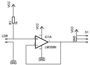 Figura 16. Circuito del sensor de iluminancia.