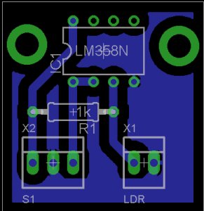Figura 17. Circuito impreso del sensor de iluminancia.